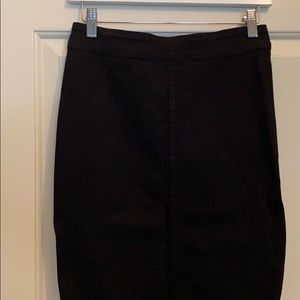 Aritzia The Castings black jean midi skirt